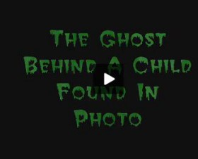 The ghost behind a child - video